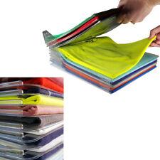 10pcs T-Shirt Clothes Folder Large Magic Folding Board Storage Laundry  Racks