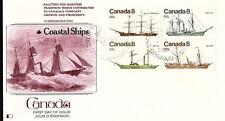Canada - Coastal Ships - 670-3 U/A Fdc - Fleetwood Cachet - 1975