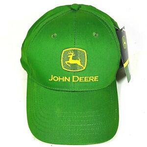 John Deere Hat Baseball Cap Green Adjustable Snap Back Men Women Unisex NEW