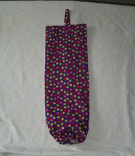 Purple with Multi Polka dots Design Homemade Fabric Plastic Grocery Bag Holder