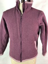 Womens Marmot Fleece Jacket L Sweatshirt Zip Front Purple Jacket Xx