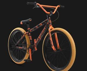 "2021 SE Bikes Blocks Flyer 26"" Orange Camo BMX Bike"