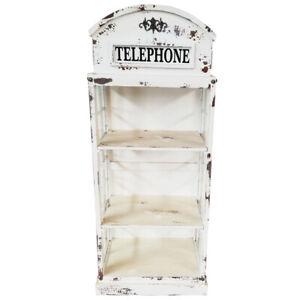 Vitrine Bücherregal Telefonzelle Bücherschrank britisch englisch weiss B-Ware