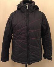 Roxy Endurance Series Womens Snowboard Jacket Size Medium Black Removeable Hood