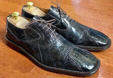 David Eden Burnished Ostrich Oxford Shoes 9.5
