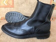 PAIR OF TRICKERS Henry Handmade Leather Chelsea Black Boots Size UK 9 US 10