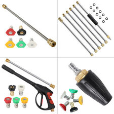 4000psi Car Power High Pressure Washer Gun Wand Lance Spray Tips Turbo Nozzles