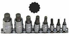 Embout à douille denture multiple XZN 1/4 M4-M5-M6 3/8 M8-M10-M12 1/2 M14-M16