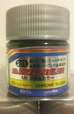 Mr Hobby acrylic paint Mr. Metal color MC-211 Chrome Silver 10ml