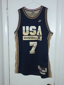 Larry Bird Nike Dream Team USA Basketball Jersey Mens Sz Large Swingman