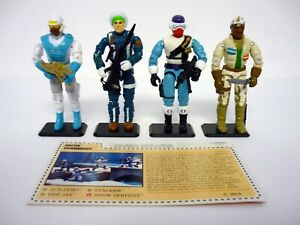 GI JOE ARCTIC COMMANDOS SET Vintage Mail-In Figures COMPLETE w/FILE CARD C9 1993