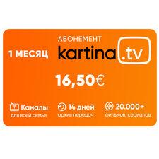 Kartina TV 1 Monat ABO! 1 Месяц Або КАРТИНА ТВ! Offizieler Shop von Kartina.TV !