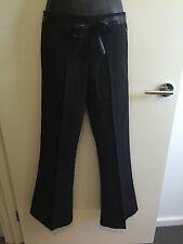 * BNWOT - Ladies Size 8 Just Wear Work Satin Trim Black Pants with Pockets