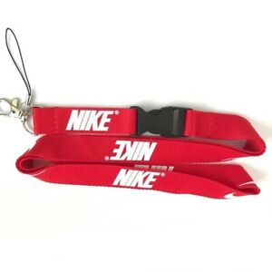 Nike Lanyard, Detachable Keychain, Badge ID Holder, Free Shipping From USA, Red