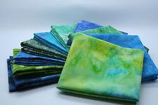 Quilt tissu mystery pack 10 x bleu/vert batik fat trimestre bundle: 100% coton