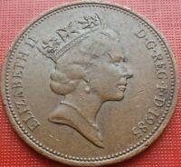 Great Britain Coin 2 Pence 1985 Elizabeth II Bronze - ICH DIEN - km#936