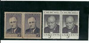 WINSTON CHURCHILL,-{ GREAT BRITAIN} 1874- 1965   >FRANKLIN D. ROOSEVELT {U.S.}