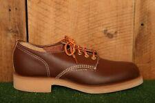 Vintage THOROGOOD 'Beloit Low Oxford' Brown Leather Work Shoes Men's Sz. 7 EE