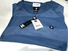 New listing DC SHOES Long Sleeved BRAND NEW w/Tag Light Weight blue striped Sleeves Mens Med