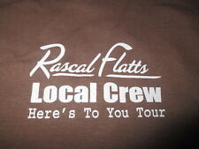 "Rascal Flatts Local Crew ""Here's to You"""" Concert Tour (Xl) T-Shirt"