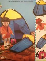 """Simplicity Sewing Pattern 5679 18"""" (45.5cm) Dolls Clothes Accessories Tent UC"""