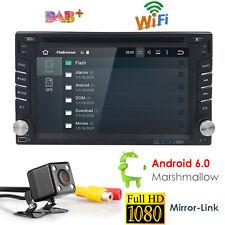 Android 6.0 Double 2DIN Car Stereo DVD Player Radio GPS SATNAV WIFI Bluetooth TV