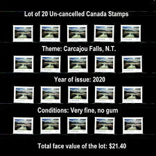 CANADA STAMPS - Lot of 20 Canada Scenery Stamps, Uncancelled, VF, FV=$21.40