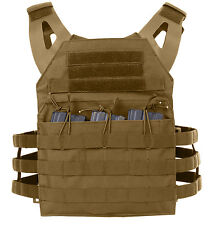 tactical light weight plate carrier vest modular coyote brown rothco 55892