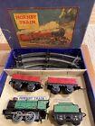 Rare Vintage HORNBY Clockwork MO Goods tin train set in box meccano  England