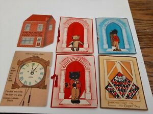 1920's rare Xmas cards. Handmade with printed verse by E.L.W (except 1) unposted