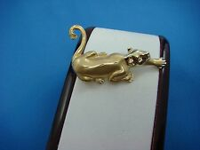 14K YELLOW GOLD CRAWLING PANTHER PENDANT, 44 MM OR 1.7 INCH LONG, 8.4 GRAMS