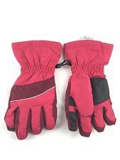 Lands End Kids Pink Black Winter Ski Glove Size Small New