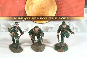 """Conte ROG008 """"Rangers Charging Set #1"""" 3 figure set (French and Indian War)"""