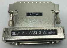 SCSI 2 - SCSI 3 Active Adapter MD68M to MD50F New Free Shipping