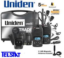 Uniden UH850S-2TP TWIN Tradie Pack 5 Watt Waterproof Rugged Handheld UHF CB