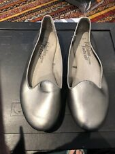 Ladies Flat Shoes In Pewter Soft Padded Insole Size 6 (39)