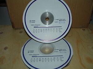 Selbstklebender Klettverschluss je 25m Haken und Flauschband Breite 25mm schwarz