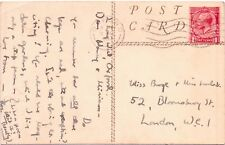 Oxford 33 Postmark Cancel Circle Machine Miss N Burge Postcard Dogs Forest Night