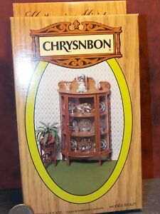 Dollhouse Miniature China Cabinet Kit Chrysnbon 1:12 scale Y46 Dollys Gallery