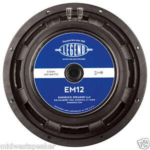 "Eminence LEGEND EM12 12"" Guitar Speaker 8 ohm FREE SHIPPING! EVM-12L Replacement"