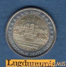 2 euro Commémo - Allemagne 2007 Chateau Schwerin F Stuttgart Germany