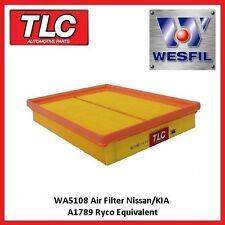 WA5108 Wesfil Air Filter Nissan D23 Navara NP300 2.3L Diesel & 2.5L Petrol 4/15