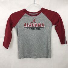 New Alabama Crimson Tide T Shirt Youth 4T Long Sleeve Cotton Baseball Colosseum