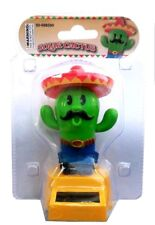 Solar Power Dancing Red Hat Green Cactus New Mexico Arizona Bobblehead Toys New