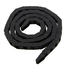Black Plastic Drag Chain Cable Carrier 7 x 7mm For CNC Router Mill Machine Tools