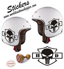 1 ADESIVO STICKERS REPLICA HARLEY DAVIDSON HD PUNISCER CASCO MOTO CUSTOM