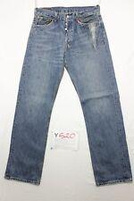 Levi's 501 customized usato (Cod.Y520) Tg.47 W33 L34 jeans Boyfriend