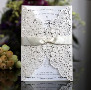 10PCS Laser Cut Wedding Party Invitation Card Wedding Birthday Engagement