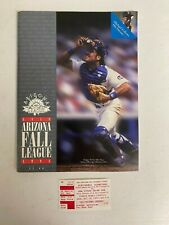 Rare MICHAEL JORDAN 1994 ARIZONA FALL LEAGUE BASEBALL PROGRAM & Ticket Stub