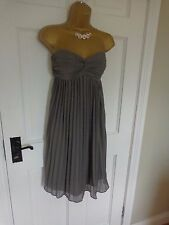 Coast Grey Lined Pleated Dress, UK 12, Excellent Condition. JUST REDUCED!